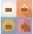 wooden board flat icons 05 vector image