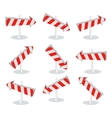Set of Direction Arrow Icons Isolated on White vector image vector image