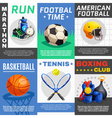 Modern Sport Posters Set vector image