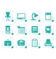 stylized simple business office and firm icons vector image vector image