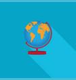 Flat earth globe icons vector image