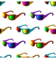 Sunglasses seamless background vector image vector image