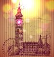 World famous landmark series Big Ben London vector image