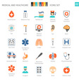 Medical Colorful Icons Set 02 vector image vector image
