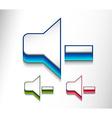 speaker volume icon web design vector image