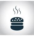 Hot hamburger icon vector image
