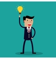 cartoon businessman show idea vector image