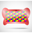 Children s tablet with educational games vector image