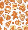 Christmas Cookies Pattern vector image