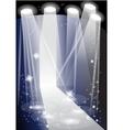 illuminated catwalk vector image