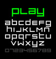 old style video game font alphabet and numbers vector image