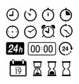 time clock app phone computer icon vector image