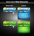 web glossy button vector image