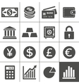 Financal icons set - Simplus series vector image vector image