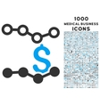 Sales Charts Icon with 1000 Medical Business Icons vector image