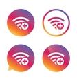 Wifi plus sign Add Wi-fi symbol Wireless vector image