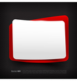 Blank red and white speech bubble layered 002 vector image