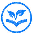 flora knowledge rounded grainy icon vector image