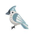 waxwing bird colorful cartoon character vector image