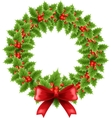 Christmas chaplet vector image