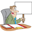 Cartoon worker with sign vector image