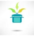 Cooking Pot Symbols vector image
