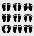 baby feet vector image