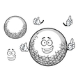 White golf ball cartoon character vector image