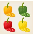 Set of Colored Yellow Green Orange and Red Sweet vector image