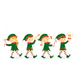 Christmas elves vector image vector image