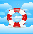 Vacation travelling concept Flat with Hello summer vector image vector image
