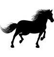 A horse runs vector image