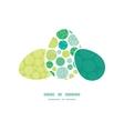 abstract green circles three matching vector image
