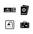 airport simple related icons vector image