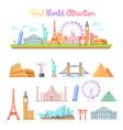 best world attractions cartoon set vector image