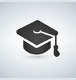 black graduation cap icon vector image