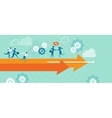 business diraction arrow leadership teamwork vector image