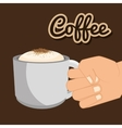coffee cup hand holding graphic vector image