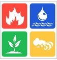 Icons for Earth Air Fire and Water vector image