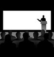 man giving a speech on stage vector image