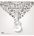 Music instruments icon Flat abstract background vector image