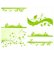 set vector backgrounds vector image