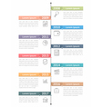 Vertical Timeline Infographics vector image vector image