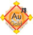 Au - Gold vector image