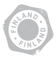 Finland stamp rubber grunge vector image