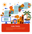 tourist banner of cuban culture vector image