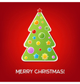 Christmas Red Vintage Card vector image