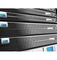 Servers Rack vector image