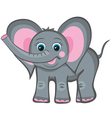 elephant smile vector image vector image