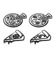 black pizza vector image